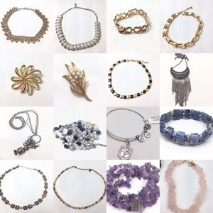 16pc stunning jewelry bundle lot designer stones